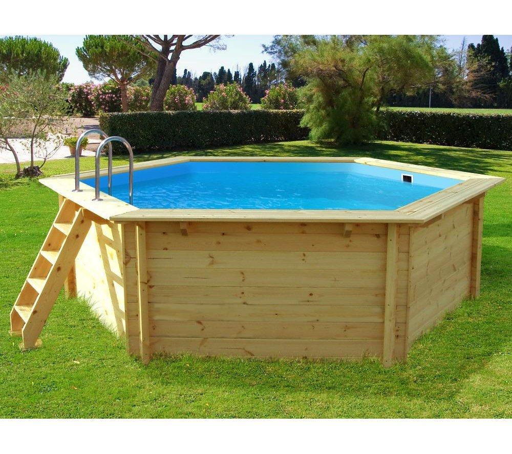 Holzpool badespa mit natur optik for Swimming pool holzpool
